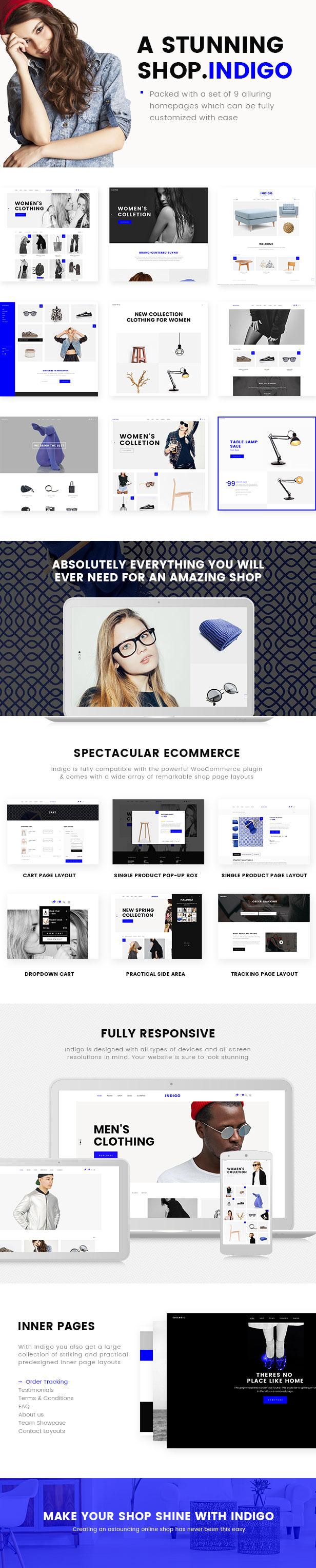 Indigo - Simple WooCommerce Shop - 1